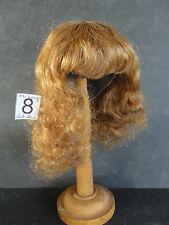 PERRUQUE de POUPEE 100% cheveux T8(31.5cm) Mi Longue Ch-roux  -50% SUPER PROMO