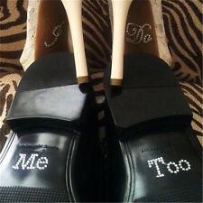 I Do & Me Too Set Accesorio de boda Calzado de novia y novio Calcomanía de b*ws