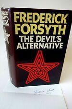 More details for frederick forsyth signed letter & the devils alternative 1st edition hb book