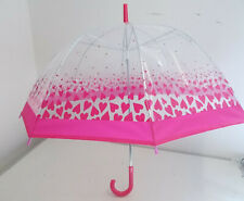 2x EWM Dome Umbrella with Pink Trim and Hearts