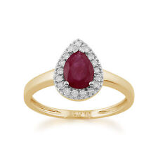 Cluster Ruby Fine Rings