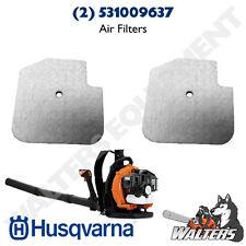 (2) Genuine Husqvarna 531009637 Air Filter for 125BT Blower