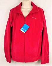 Columbia Womens NWT Benton Springs Red Full Zip Fleece Jacket Size Large