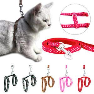Pet Cat Dog Collar Harness Leash Control Walk Adjustable Reflective Outdoor Tool