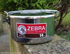 Zebra Head 14cm Camping Pot Stainless Steel