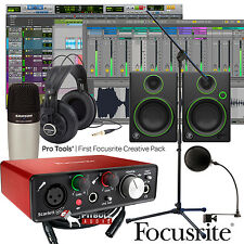 Focusrite Scarlett Solo 2nd Gen + Samson Mic + Mackie CR3 + Home Studio Bundle