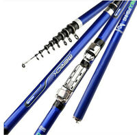 Ultra Light Carbon Fishing Telescopic Rock Fishing Rod Portable Travel Sea Pole