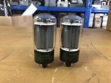Pair JAN Philips ECG 6L6WGB 6L6 Vacuum tubes Tested Guaranteed! USA