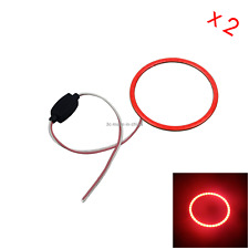 2x Red Car Angel Eye Halo Rings Blub Driving Lamp 80MM 1 COB LED Z5113
