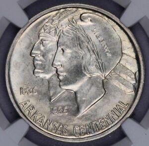 1937-S 1937 Arkansas Commemorative Silver Half Dollar 50c NGC MS 65