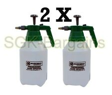 2X Weed Garden Water Bottle Pressure Sprayer Spray Mister Weed Killer 1.5L Litre