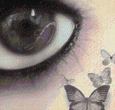 Butterfly réflexion Compté Cross Stitch Kit