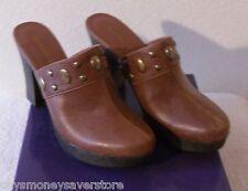 NIB Madden Girl Jaanis Womens Studded Platform Clogs 10 Cognac MSRP$60