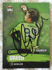 CHRIS GREEN CRICKET SIGNED IN PERSON BIG BASH BBL CARD GENUINE Tap n Play