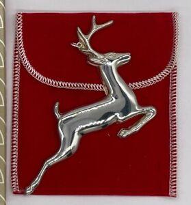 "1974 GORHAM ""Reindeer"" Sterling Silver Christmas Ornament NOS"