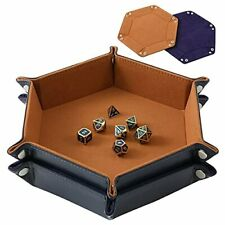 2 Pcs Portable Folding Dice Rolling Tray Set for Rpg Dnd Table Games