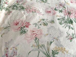 Vintage Ralph Lauren Therese Garden Floral Full/Queen Duvet Cover Blue Label USA