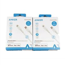 2x Anker Powerline Select Lightning to Usb-c Cable Type C PD 90cm White A8612H21