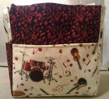 music instruments drum saxophone sheet notes musician purse project bag handmade