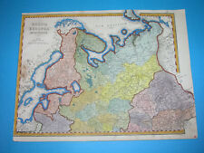 1853 NICE ORIGINAL MAP LITHUANIA RUSSIA LATVIA ESTONIA BELARUS FINLAND POLAND