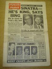 MELODY MAKER 1963 JULY 27 SINATRA BING CROSBY JOHNNIE RAY ANDY WILLIAMS < +