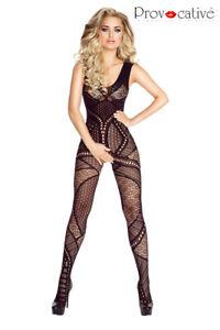 Bodystocking, combinaison, catsuit sexy de Provocative Lingerie, NOIR S-L lace
