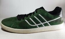 Element Mens 9.5 M Shoes Sneakers Green White Skate Casual Suede Leather Fashion