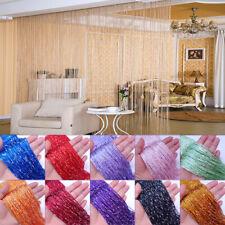 3X3M Glitter String Door Curtain Beads Room Dividers Beaded Fringe Window Panel