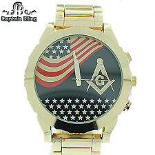 Men's Masonic Elegant Dress  Watch ICE NATION /CAPTAIN BLING # WM613 Brand New