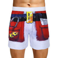 Men's Quick Dry Swim Summer Beach Pants Surf Board Casual Shorts Pants Christmas