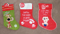 Christmas Pet DOG Stocking Festive Wupply Santa Good Doggie Xmas Filler Gift New