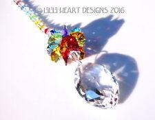 m/w Swarovski 50mm Clear Cats Eye Marquise Chakra Suncatcher Lilli Heart Designs