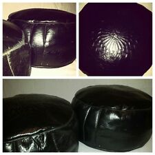 Beautiful Moroccan handmade large leather pouffe / beanbag / footstool XL