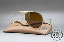 Ray Ban 1/30 10k GO Dorato Aviator Shooter Bausch and Lomb B&L U.S.A Vintage