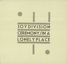 Joy Division ‎ Ceremony / In A Lonely Place 12'' GREY MARBLED Ltd #106 NEW ORDER