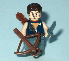 "T.V. #02 Lego The Walking Dead ""Daryl w/Crossbow "" NEW Genuine Lego Parts Zombie"