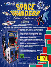 SPACE INVADERS 25th Anniversary 2003 Original NOS Video Arcade Game Flyer Vers 2