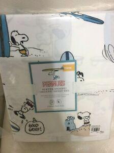 Pottery Barn Kids Peanuts Snoopy Surf's Up Organic Twin Sheets Charlie Summer