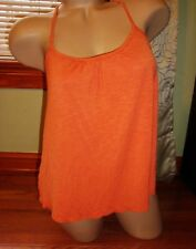 Forever 21 orange rust open knit crochet back loose baby doll crop cami - Size M