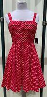 Ixia Mini Polka Dot Print Pinup Tie-Back Dress