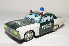 TINPLATE BLECH JAPAN? FORD CHEVROLET ? POLIZEI POLICE CAR EXCELLENT CONDITION
