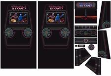 Full Set Side Art Arcade Cabinet Tron Artwork Decals Restoration