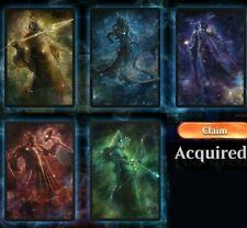 NICE MTG Secret Lair Theros Stargazing Bundle Code Magic Arena Sleeves ALL 5