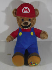 """18"""" BUILD A BEAR SUPER MARIO TEDDY SOFT TOY PLUSH WITH GAME MUSIC SOUND CHIP BRO"""
