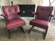 1930's ART DECO ROCKET LOUNGE CHAIRS EXECUTIVE OFFICE RARE RESTORED ROCKERS