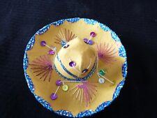 *Small Suede Decorative Sombrero - 6 inches