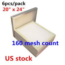 "US Stock, 6 pcs 20"" x 24"" Aluminum Frame Printing Screens with 160 White Mesh"