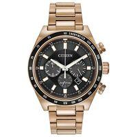 Citizen Eco-Drive Men's Chronograph Rose-Gold Tone Band 42mm Watch CA4203-54E