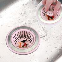 Stainless Plug Drain Steel Strainer ABS Stopper Basket Filter Sink Kitchen