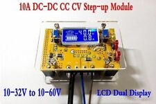 10A DC-DC Adjustable CC CV Step UP Power Supply Module LCD Dual Display + Shell